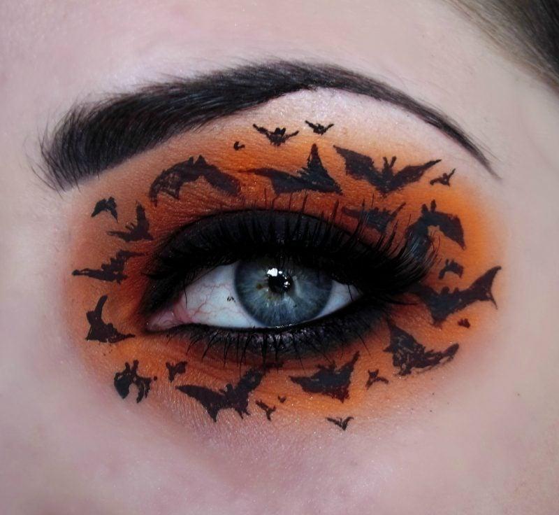 fledermaus schminken orange
