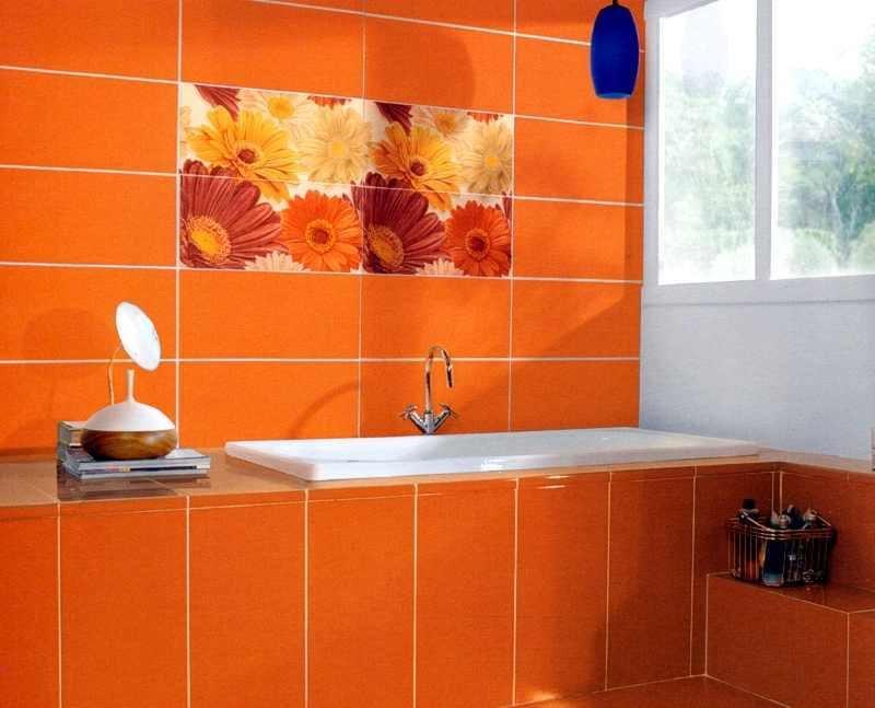 fliesenaufkleber für bad orange