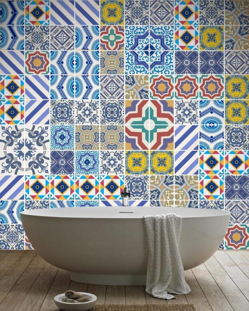 fliesenaufkleber für bad - 21 kreative ideen zur erfrischung, Schlafzimmer entwurf