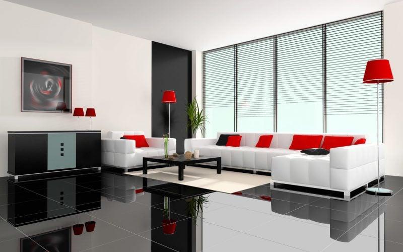 Fliesen im Wohnzimmer Interiour