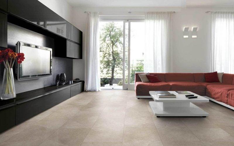 Fliesen im Wohnzimmer Gestaltung
