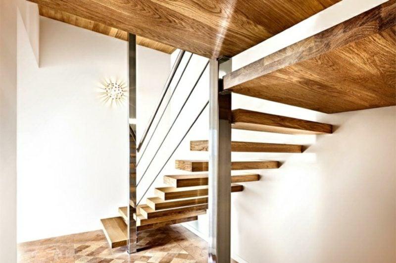 freihängende Treppe Eichenholz