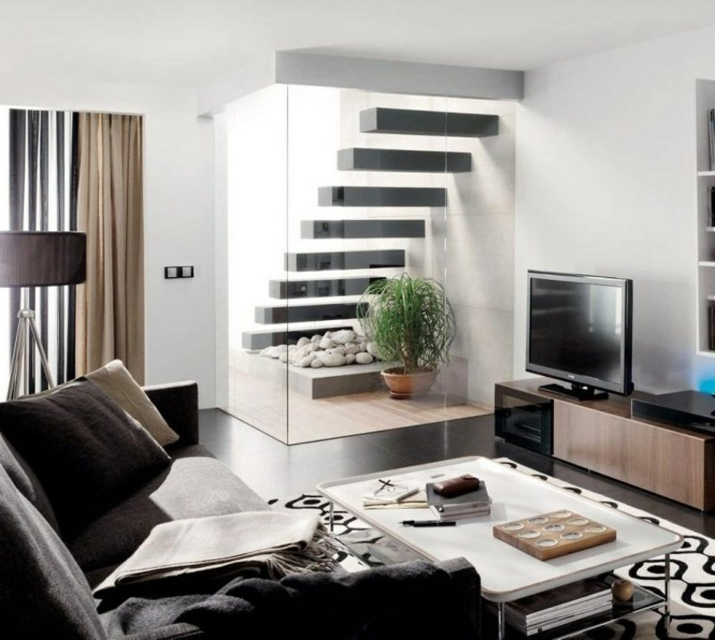 freitragende treppe 40 moderne designideen. Black Bedroom Furniture Sets. Home Design Ideas