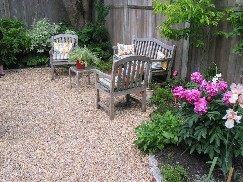 Gartengestaltung mit Kies Gartenbereich
