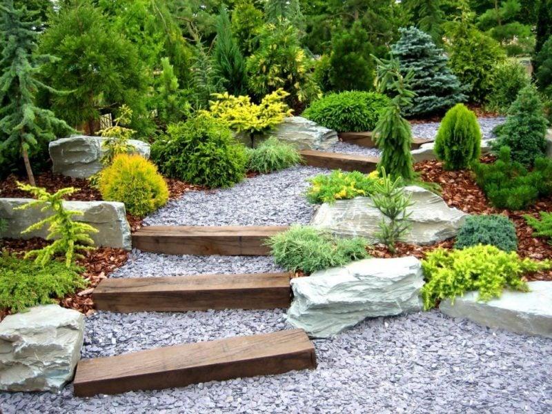 Gartengestaltung mit Kies japanischen Garten