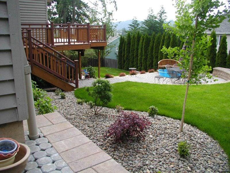 Gartengestaltung mit Kies Design Idee