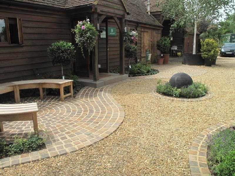 AuBergewohnlich Gartengestaltung Mit Kies Kiesweg Idee