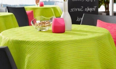 grüne gartentischdecken