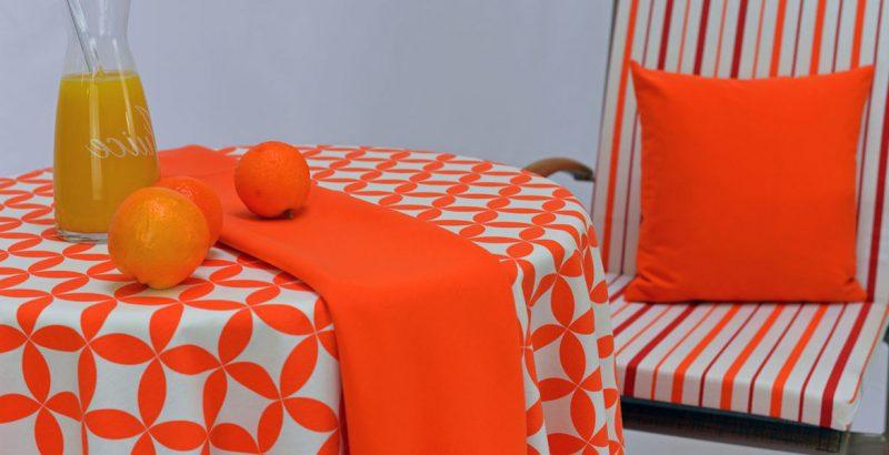 gartentischdecken orange