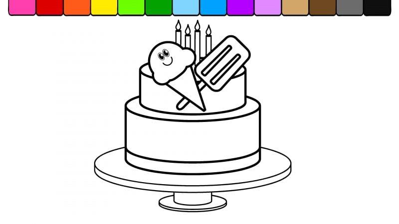 Geburtstagstorte Bilder für Einladungskarte