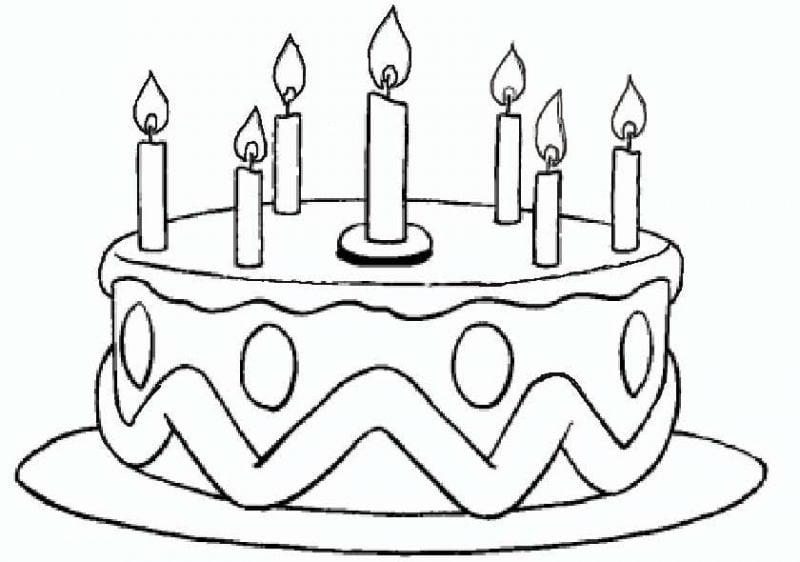 Geburtstagskuchen gemalt