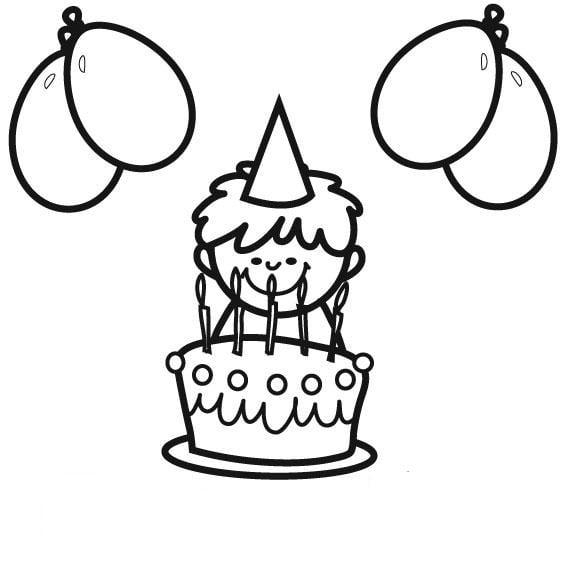 Geburtstagstorte Bilder Malvorlage