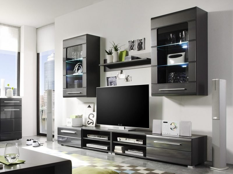 20 stilvolle ideen h lsta wohnwand zu gestalten. Black Bedroom Furniture Sets. Home Design Ideas
