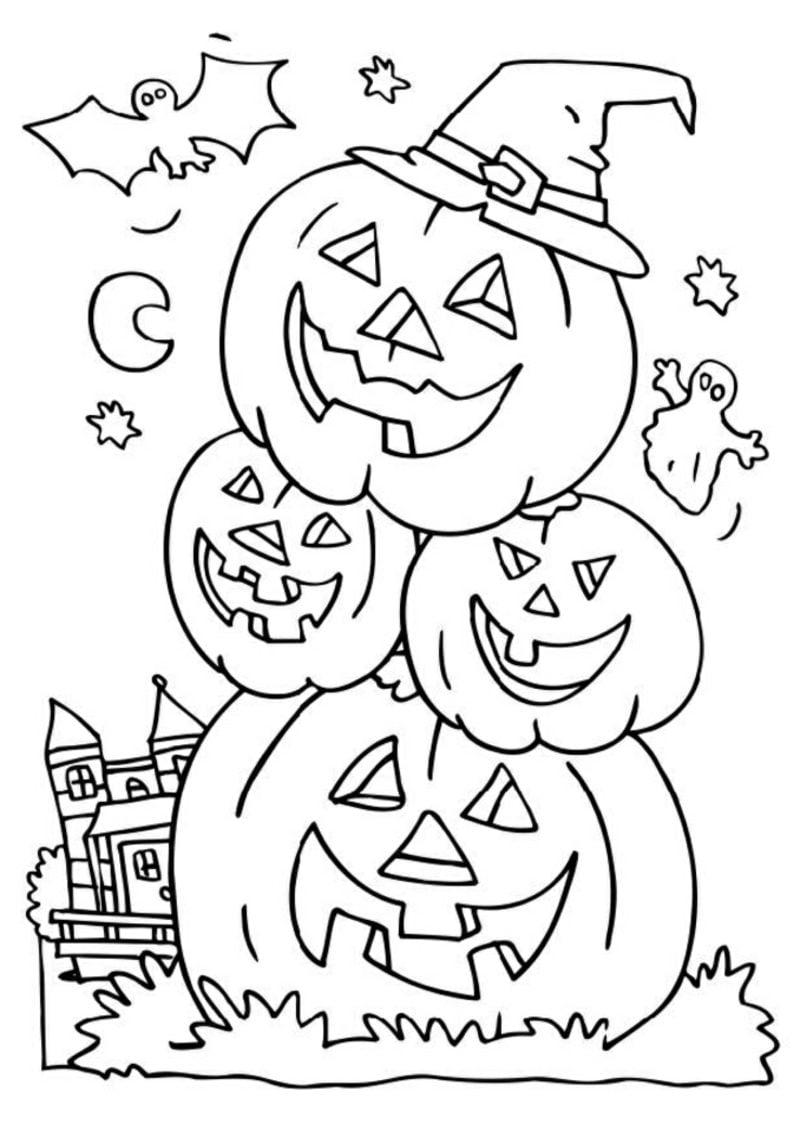 Halloween Ausmalbilder - Halloween - ZENIDEEN