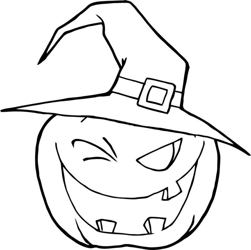 Coloring Pages Pumpkin Halloween