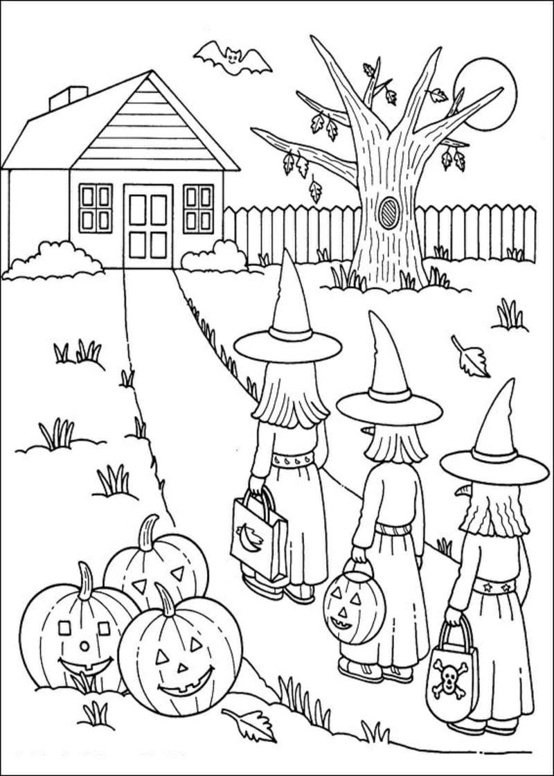 Halloween ausmalbilder halloween zenideen for Childrens halloween coloring pages