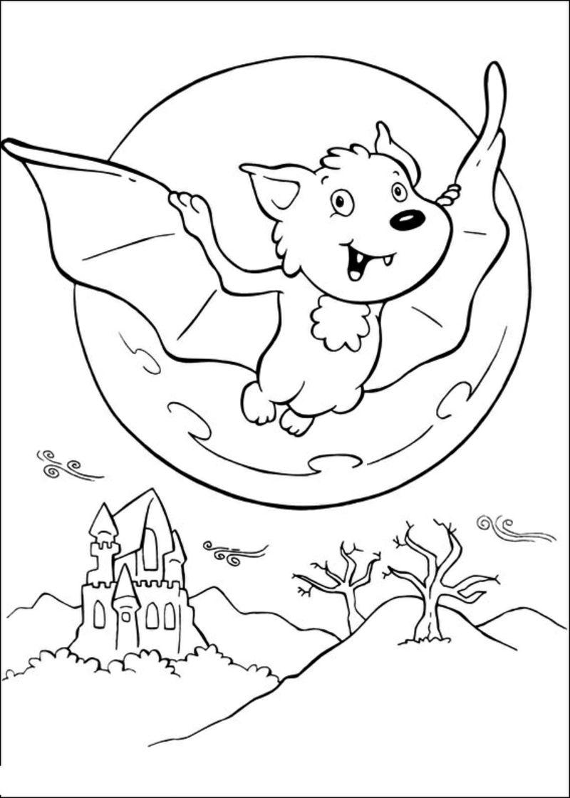 Halloween Ausmalbilder Fledermaus