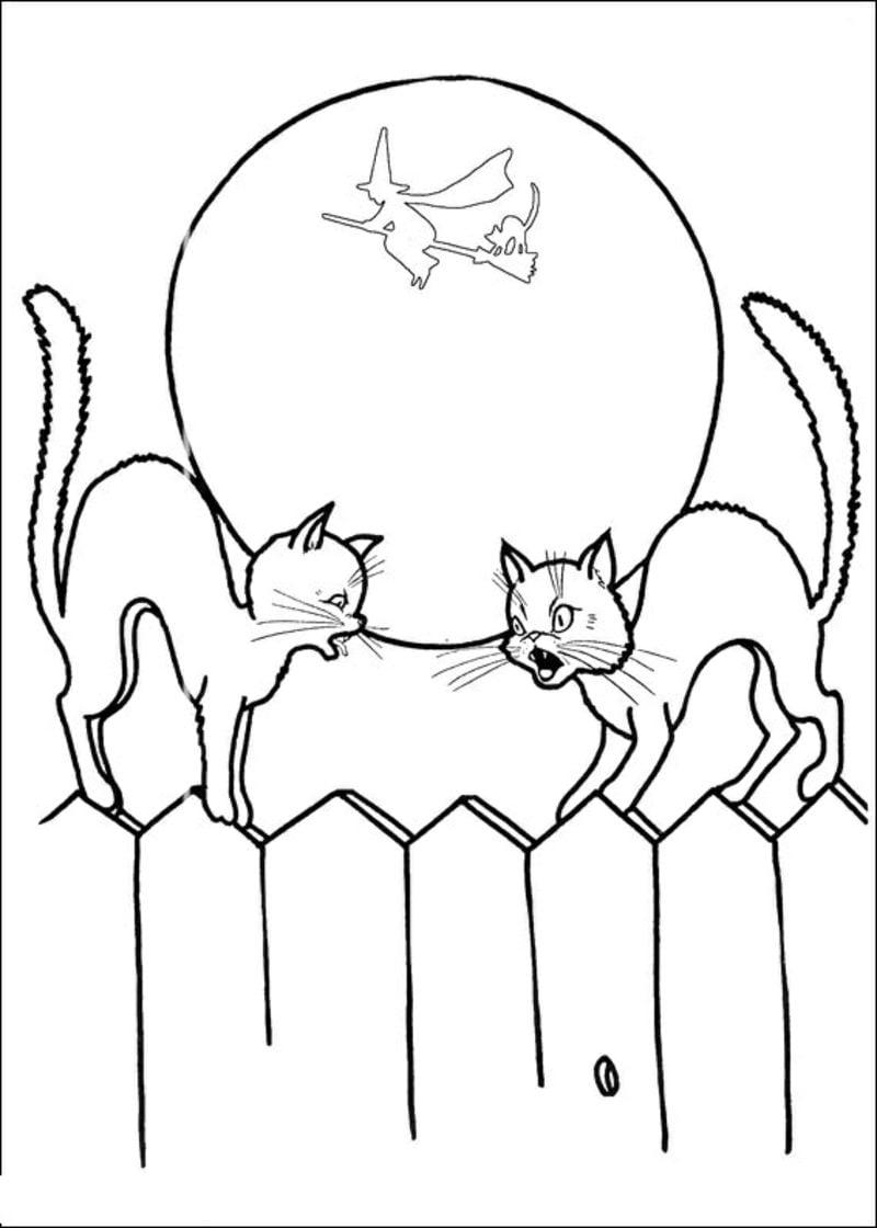 coloring pages of halloween cats - halloween ausmalbilder halloween zenideen