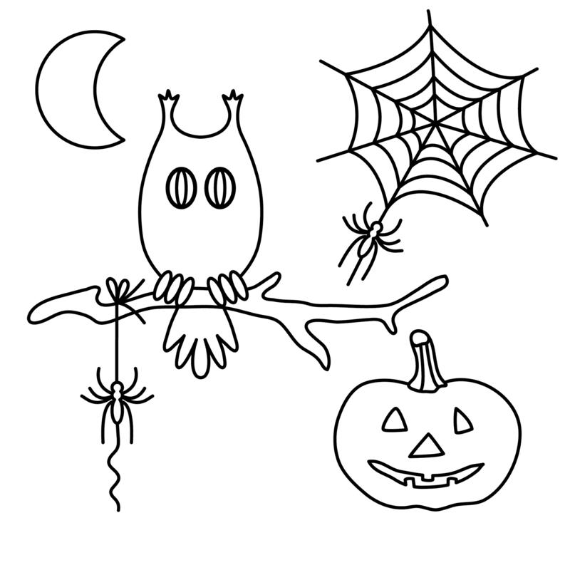 Ausmalbilder Herbst Kürbis: Halloween Ausmalbilder