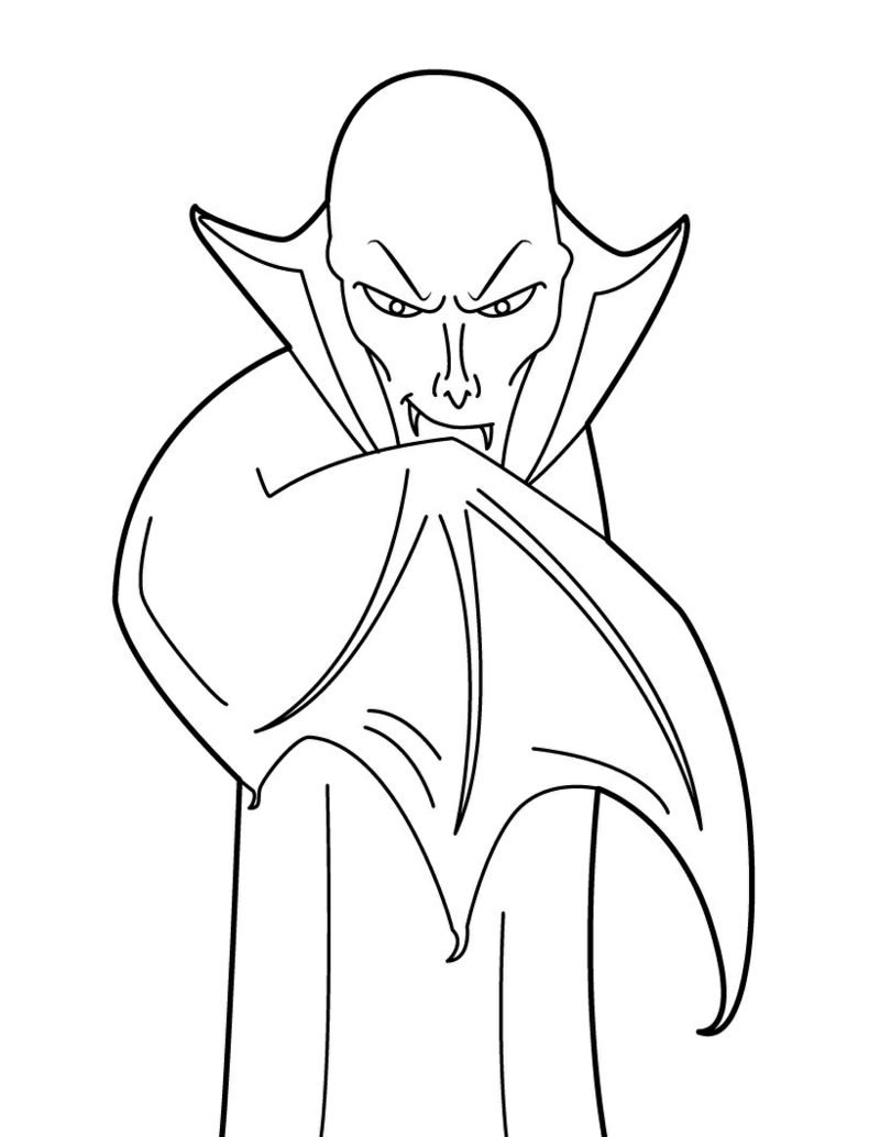 Vampire Lips Coloring Pages