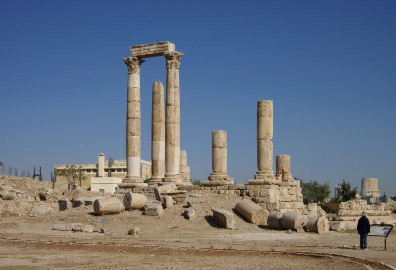 hauptstadt-von-jordanien Amman Herkulestempel auf dem Zitadellenhügel