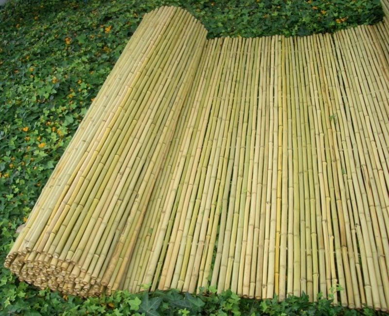 Bambuszaun hell Gartendeko