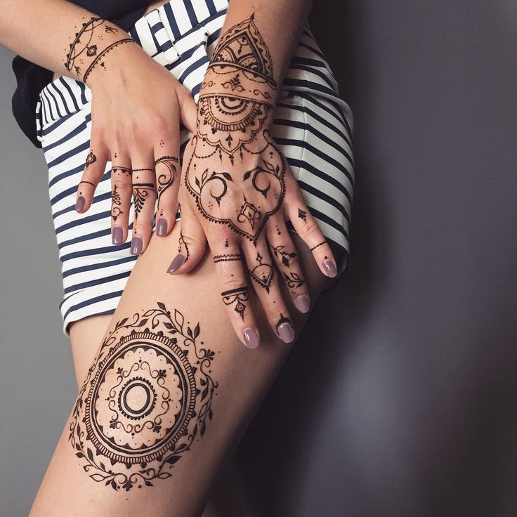 henna tattoo vorlagen trendy