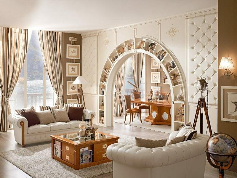 Wohnzimmergestaltung im maritimen Einrichtungsstil