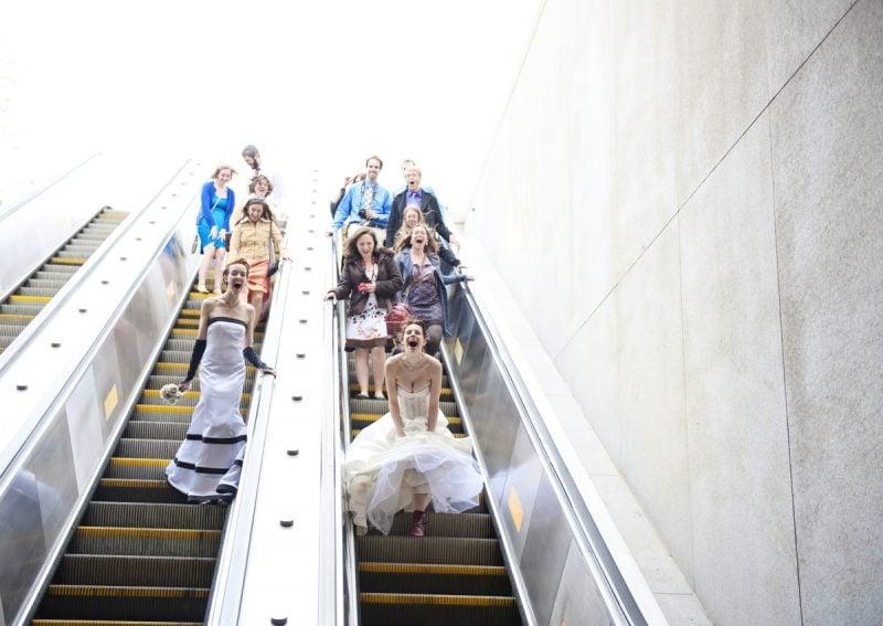 Hochzeitsbilder Eskalator