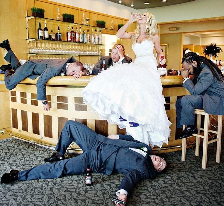 Hochzeitsbilder getrunkene Braut