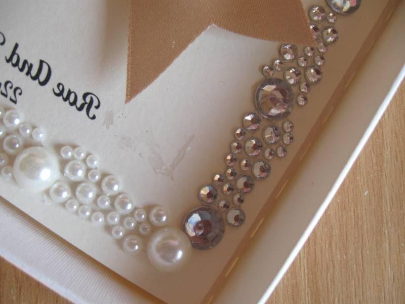 hochzeitseinladungen selber machen perlen