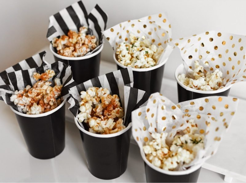hollywood mottoparty popcorn