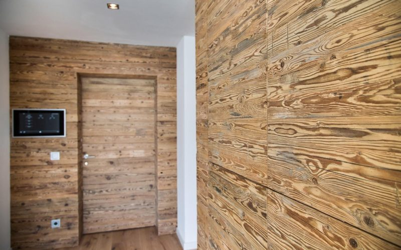 Holz Wandverkleidung für Flur