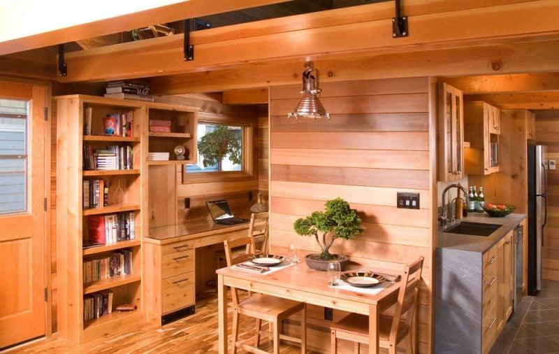 Holz Wandverkleidung in der Küche