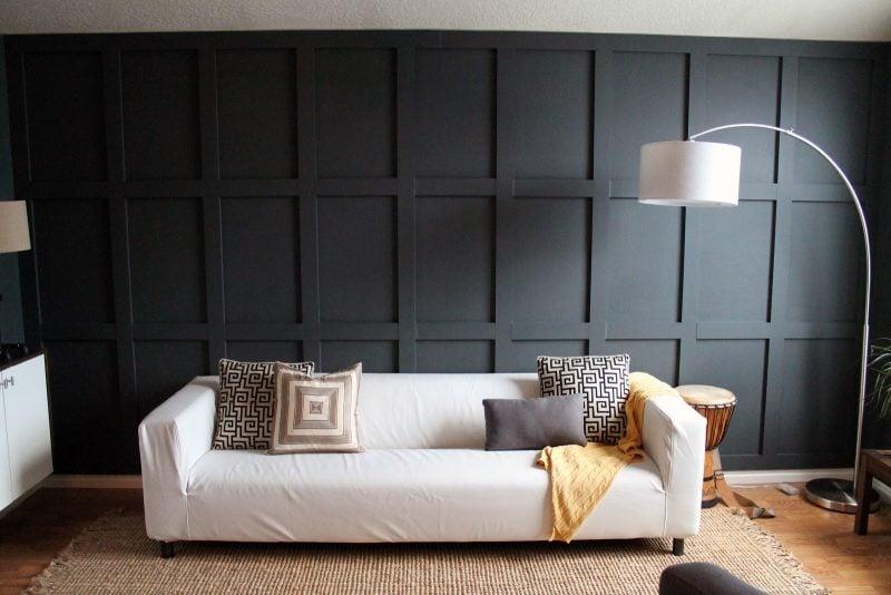 Holz Wandverkleidung Schwarz