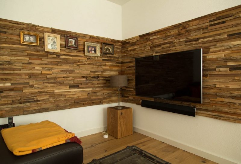 Holz Wandverkleidung TV