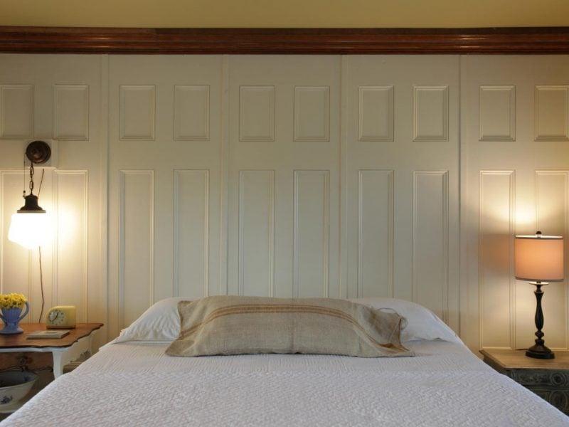 Holz Wandverkleidung in Weiß