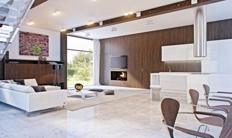 21 inspirationen f r holz wandverkleidung f r jeden raum innendesign wandverkleidung zenideen - Innendesign wohnzimmer ...
