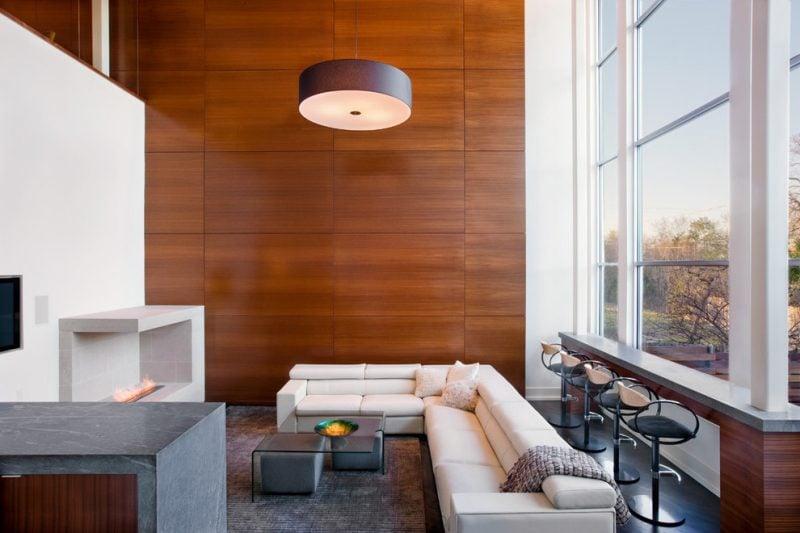 Holz Wandverkleidung Wohnzimmer Design