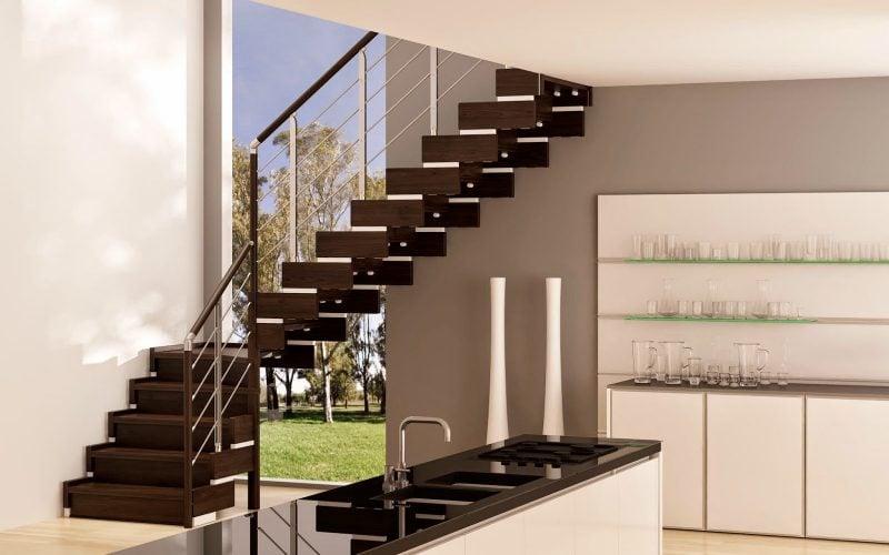 holzgel nder ideen f r das gel nder der treppe. Black Bedroom Furniture Sets. Home Design Ideas