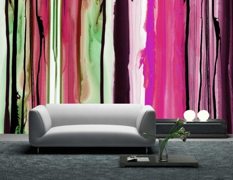 Wandbemalung mit Aquarell Effekt