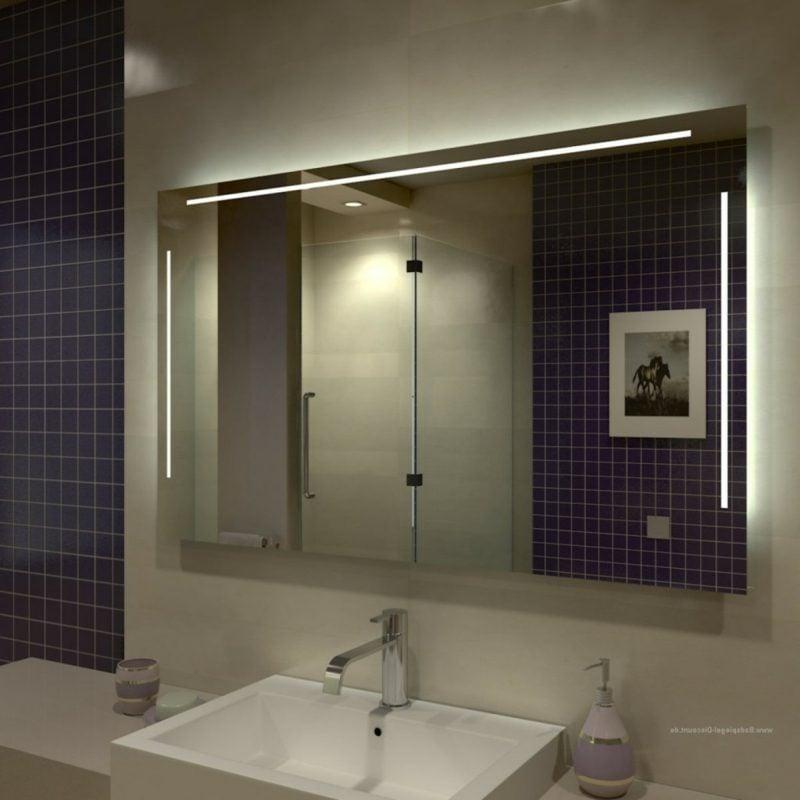 Spiegel mit Beleuchtung Badezimmer