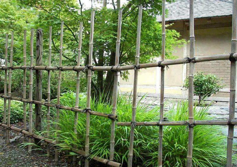 Gartengestaltung Ideen Bambuszaun