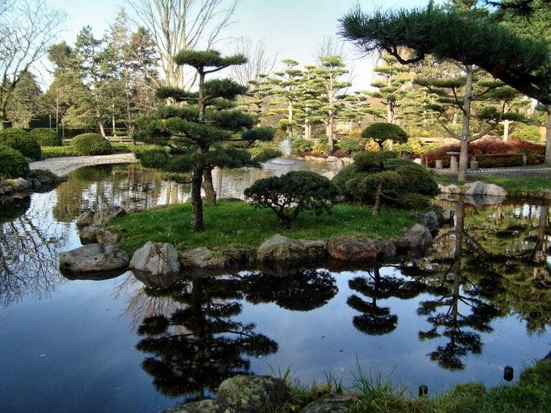 Japanische Gärten groß