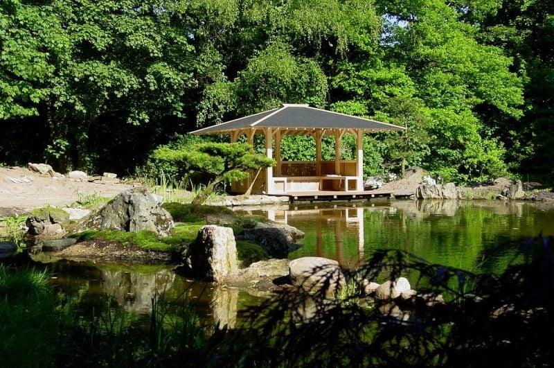 Japanische Gärten Pavillon