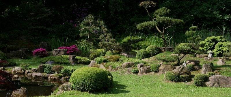 Japanische Gärten Steinen