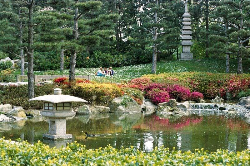 Japanische Gärten im Park