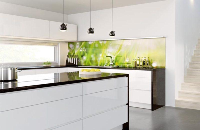 küche glasrückwand modern