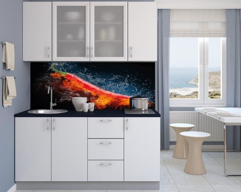 Küche Glasrückwand Interessant