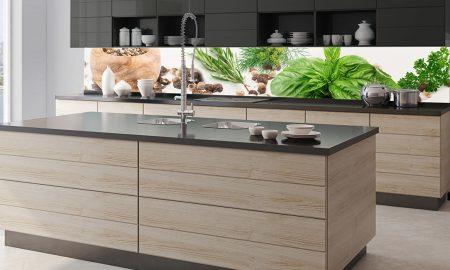 frische küche glasrückwand